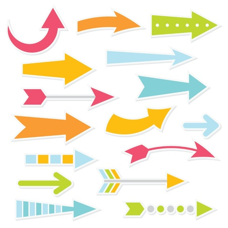 Colorful arrows set Illustration