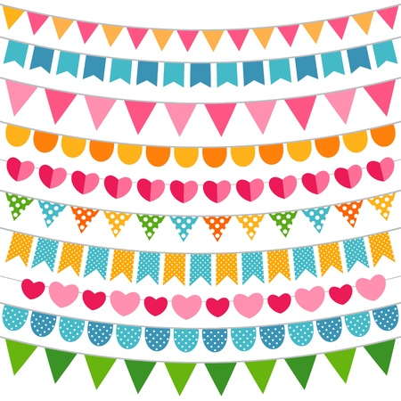 Colorful decoration set Vector