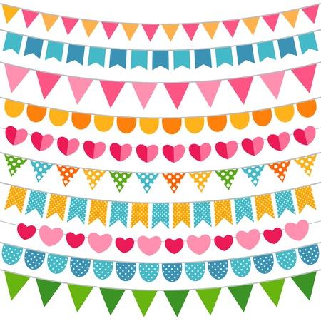 Kleurrijke decoratie set Stock Illustratie