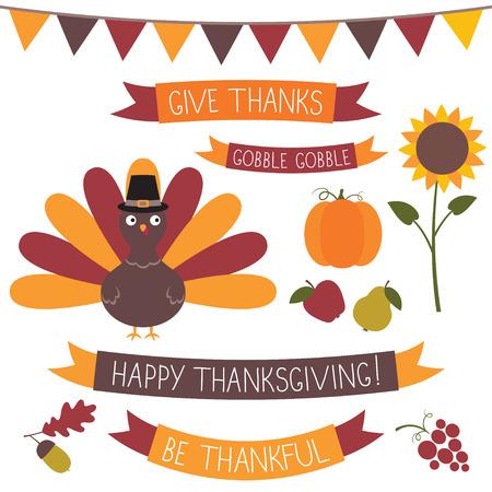Thanksgiving set Ilustração