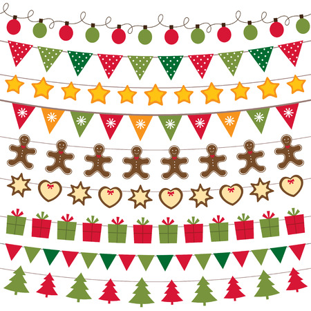 decoration: Christmas decoration set Illustration