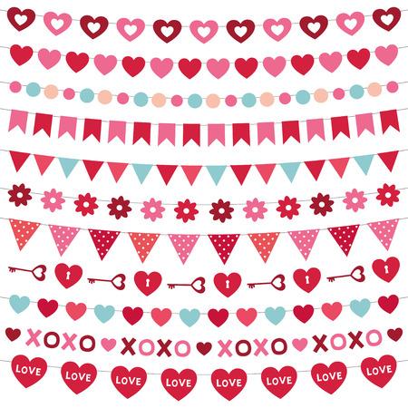 Valentines Day decoration set Vector