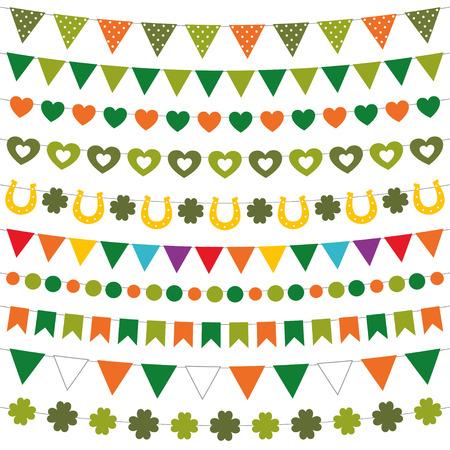 st patricks party: St. Patricks Day decoration set Illustration