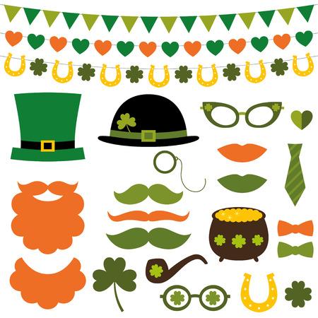 St. Patricks Day décoration et photomaton accessoires fixés Banque d'images - 35221476