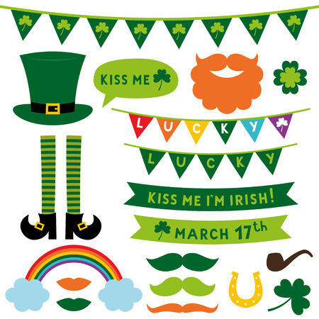 St. Patricks Day design elements set