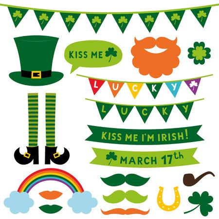 St. Patricks Day design elements set