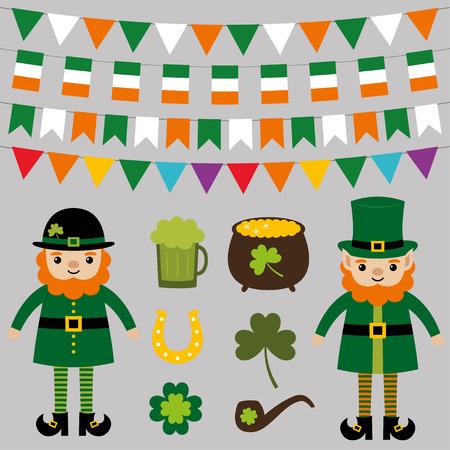 st patricks party: St. Patricks Day design elements set