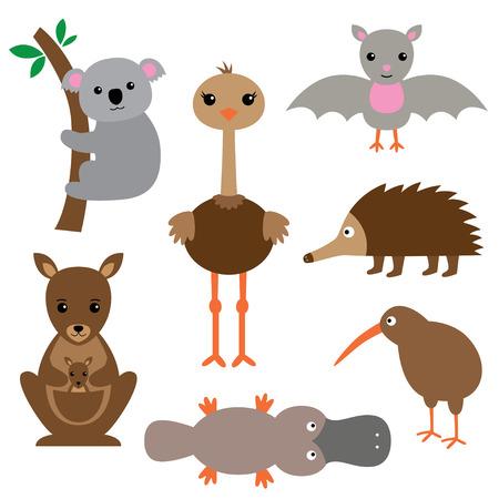 animal vector: Australian animals set