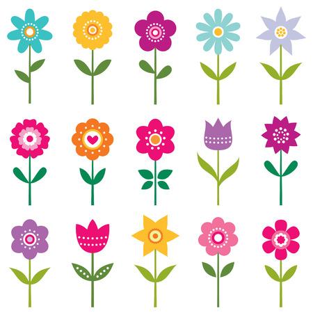 flower clip art: Isolated flowers set