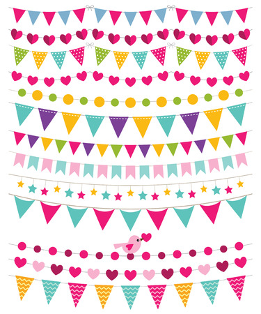 Bunting decoratie set Stock Illustratie