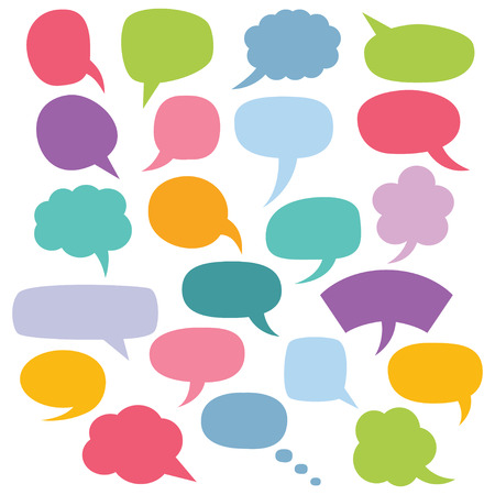 chat bubbles: Speech bubbles set