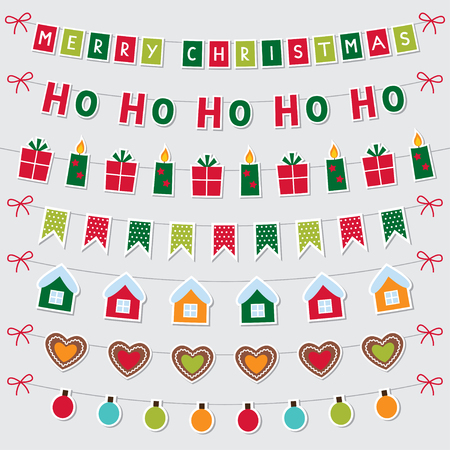 christmas parties: Christmas decoration and banners set