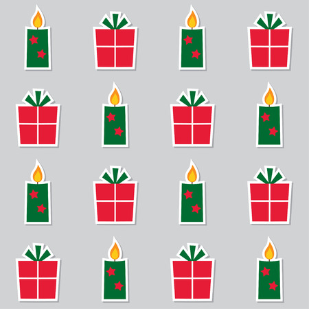 gift pattern: Christmas seamless pattern candles and gift boxes