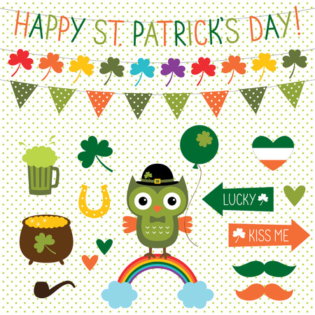 st  patrick's day: St. Patricks Day design elements set