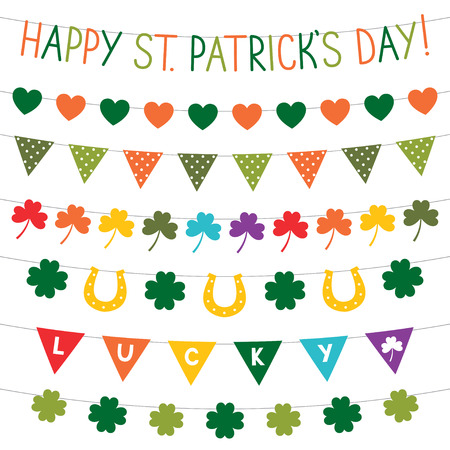 st  patrick's day: Bunting decoration for St. Patricks Day