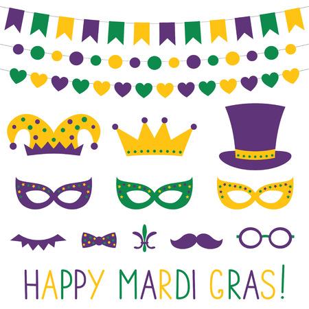 Mardi Gras decoratie en Photo Booth props