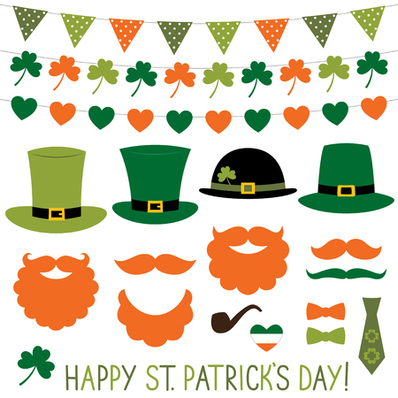 props: St. Patricks Day hats and decoration set