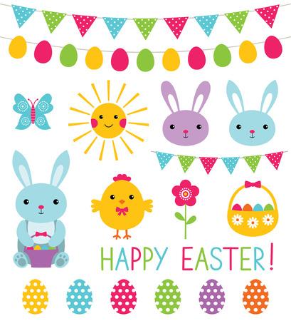 easter chick: Easter cartoon set