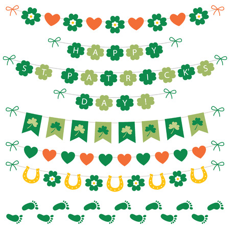 st patricks party: St. Patricks Day banners and decoration Illustration