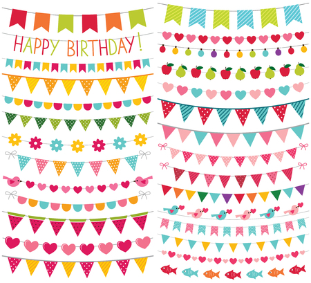 Kleurrijke verjaardag en partij decoratie