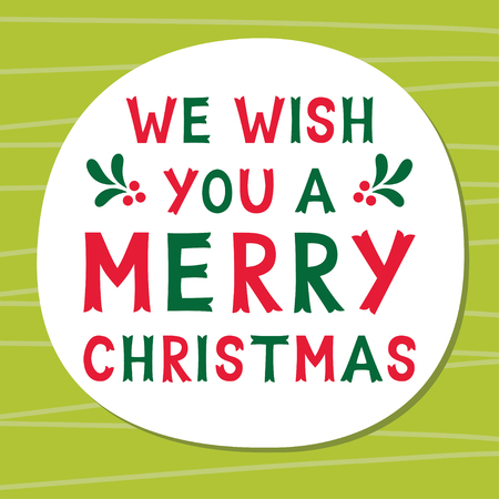 We wish you a Merry Christmas frame, text in hand lettered font