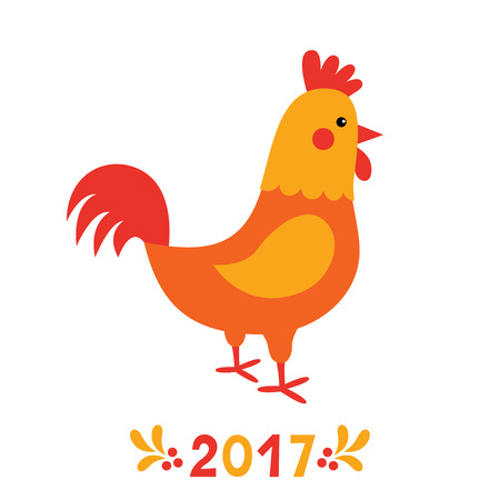 Rooster, symbol of New Year 2017