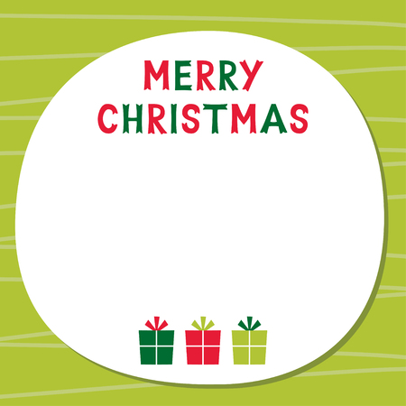 blank space: Christmas card with blank space