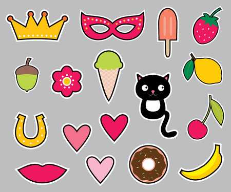 Colorful stickers set