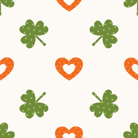 heart month: Seamless pattern for St. Patricks Day