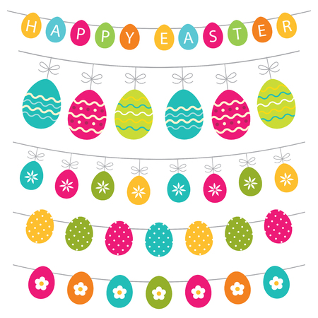 Colorful Easter banner decoration