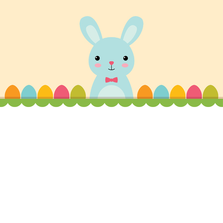 Easter background with a bunny, blank space for text Illustration