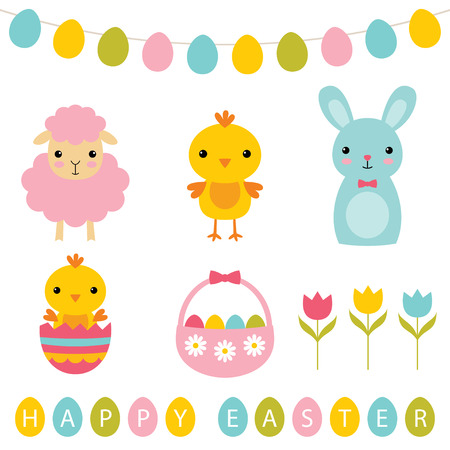 Easter holiday set Stock Vector - 74638155