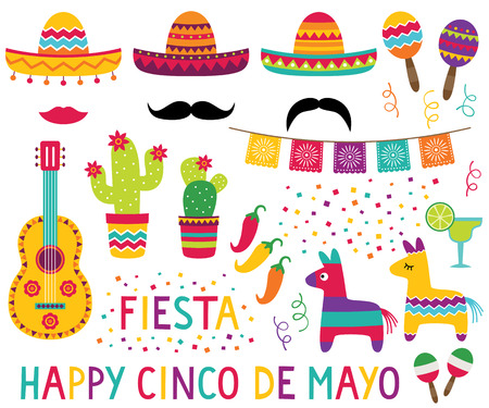 Cinco de Mayo design elements set