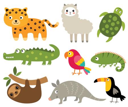 South American animals set