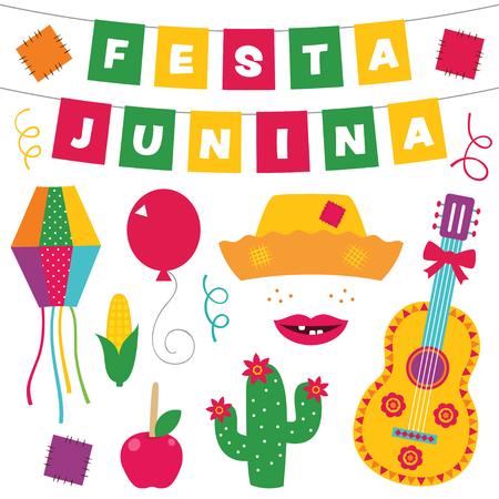 Festa Junina design elements set