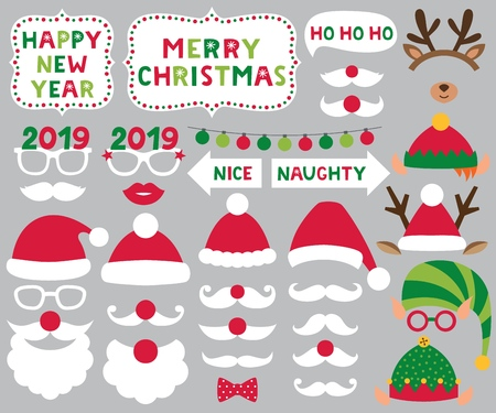 Christmas decoration and photo booth props