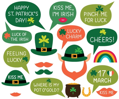 St. Patricks Day speech bubbles and photo booth props