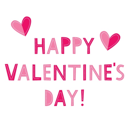 Valentines Day vector greeting card with hearts Ilustracja