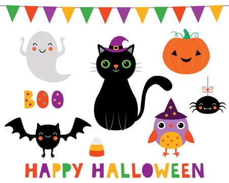 Halloween vector clip art collection 向量圖像