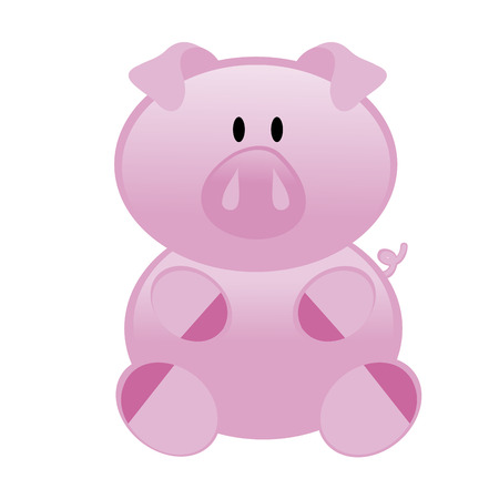 abstract cute pig on a white background Vector