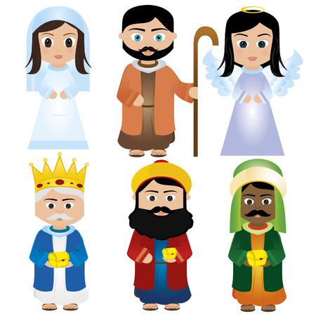 abstract christmas people on a white background Vector