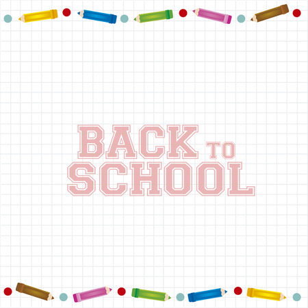 abstract back to school background with some special objects Vector
