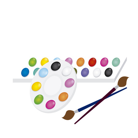 abstract school objects on a white background Vector