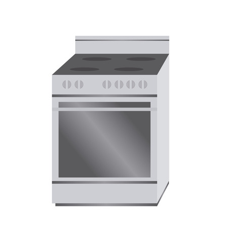 abstract cartoon stove on a white background