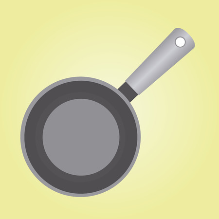 pot holder: abstract kitchen tool on a yellow background