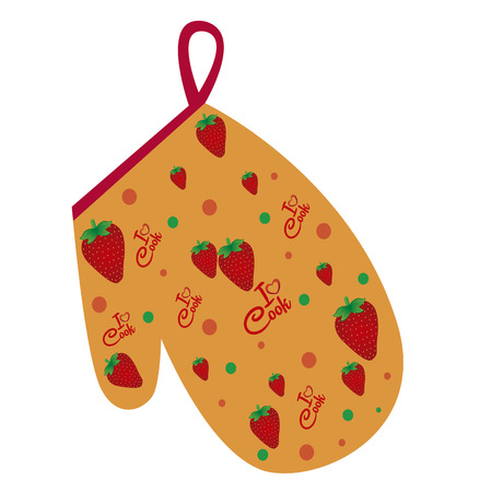 pot holder: abstract kitchen tool on a white background Illustration