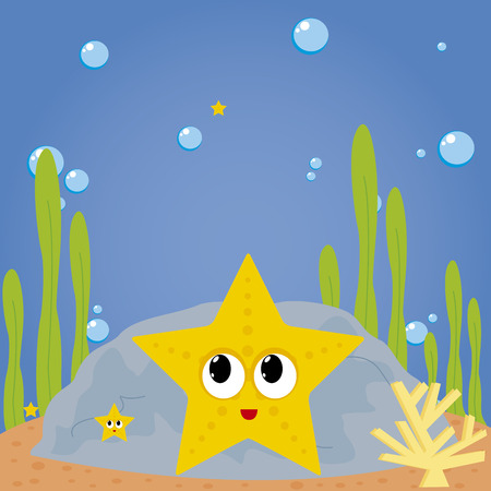 abstract cute water animal on a special background Vector