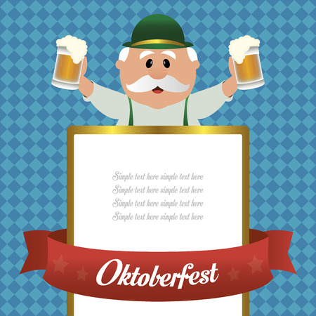 abstract oktoberfest background with some special objects Illustration