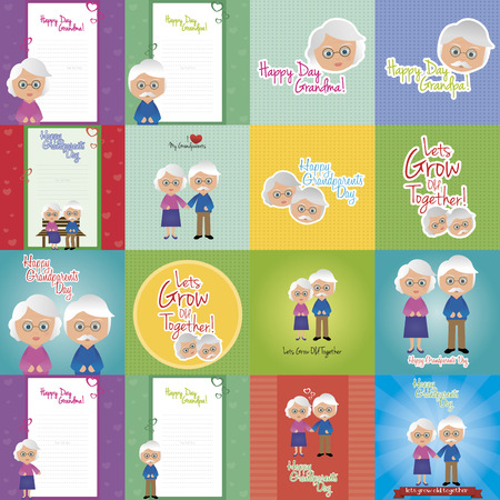 abstract set of grandparents day background with some special objects