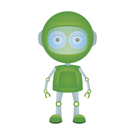 cute robot: abstract cute robot on a white background